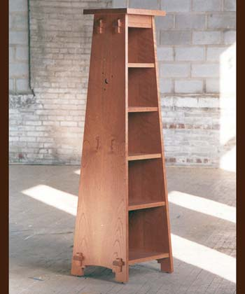 View Mission Pedestal Bookcase