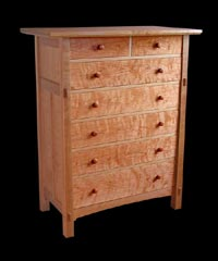View 7 Drawer Tapered Leg Dresser