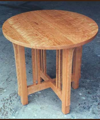 View Mission Round Lamp Table